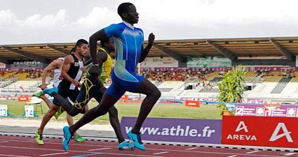 Babacar DIOP, champion de France junior du 100m et du 200m